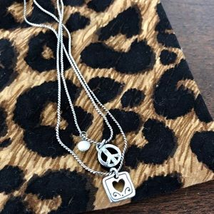 Brighton peace and love necklace